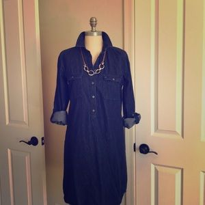 Denim Dress-LOFT